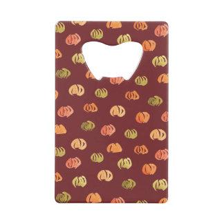 Pumpkin Credit Card Bottle Opener