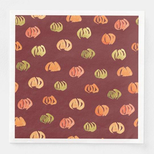 Pumpkin Dinner Paper Napkins
