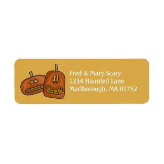 Pumpkin Duo Halloween Return Address Label