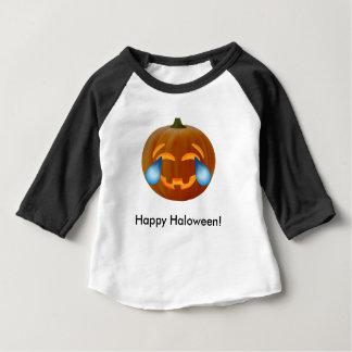 Pumpkin emoji tears of joy Baby 3/4 Sleeve T-Shirt
