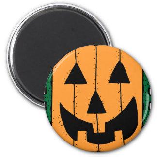 Pumpkin Face Stamp Design 6 Cm Round Magnet