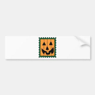 Pumpkin Face Stamp Design Bumper Stickers