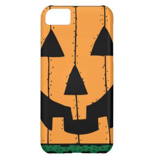 Pumpkin Face Stamp Design iPhone 5C Cases