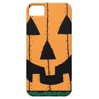 Pumpkin Face Stamp Design iPhone 5 Cover