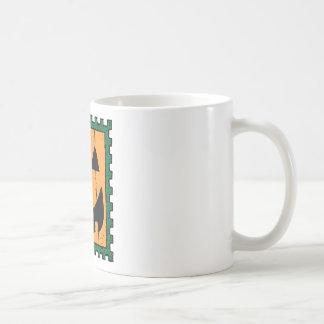 Pumpkin Face Stamp Design Coffee Mug