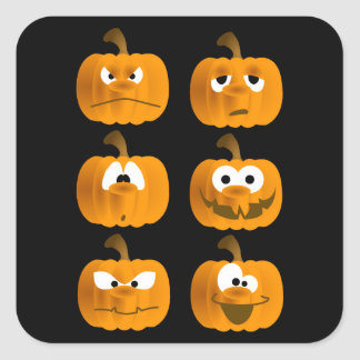pumpkin faces stickers