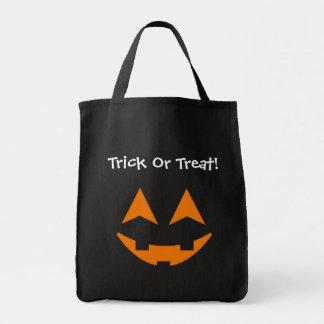Pumpkin Faces Trick Or Treat Bag