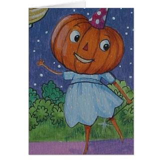 Pumpkin Fairy Card