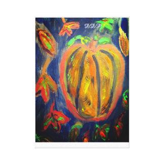Pumpkin fall art canvas print