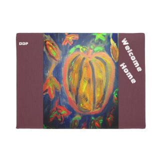 Pumpkin fall art doormat