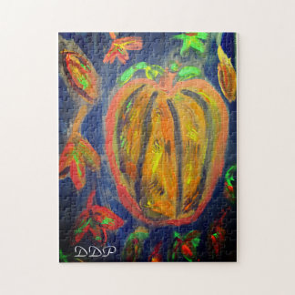 Pumpkin fall art jigsaw puzzle