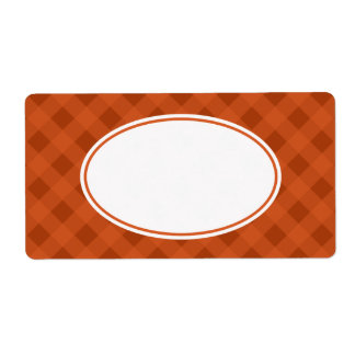 Pumpkin Fall Food Kitchen Gingham Labels