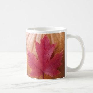 Pumpkin Fall Leaf Coffee Mug