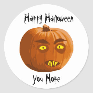 Pumpkin Fangs: Happy Halloween - You Hope Classic Round Sticker