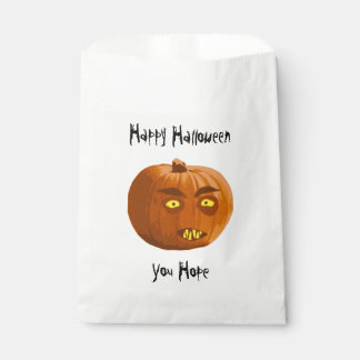Pumpkin Fangs: Happy Halloween - You Hope Favour Bag