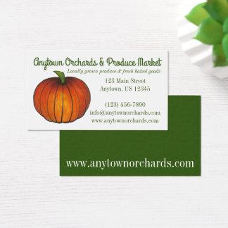 Pumpkin Farm Farmstand Harvest Orchard Fall Business Card