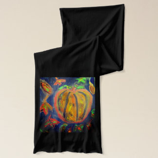 Pumpkin fell art scarf