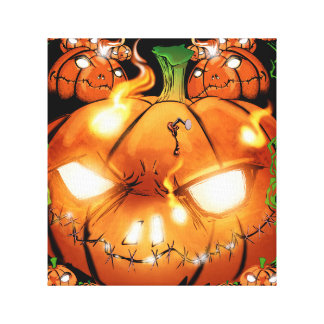 Pumpkin Friends Canvas Print