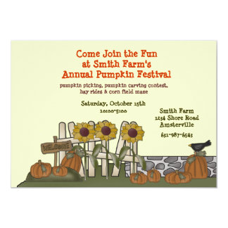 Pumpkin Garden Invitation