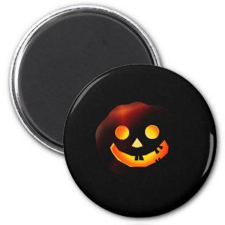 Pumpkin Ghost 6 Cm Round Magnet