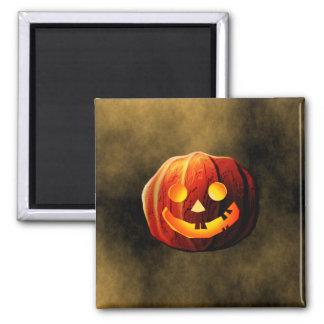 Pumpkin Ghost Square Magnet