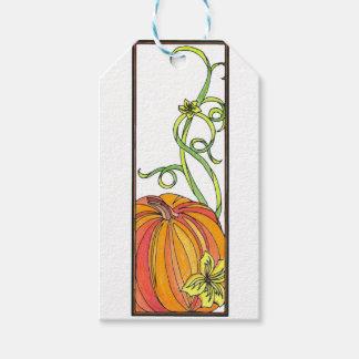 Pumpkin Gift Wrap Gift Tags