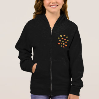 Pumpkin Girls' Basic Zip Hoddie Hoodie