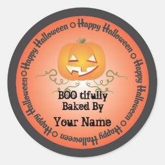 Pumpkin Halloween Baked by Sticker