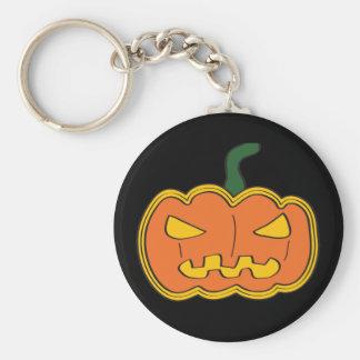 Pumpkin - Halloween Basic Round Button Key Ring