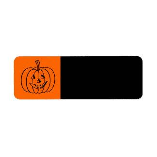 Pumpkin Halloween Label Return Address Label