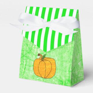 Pumpkin Halloween Lime Green Striped Favor Bag Favour Box