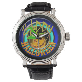 Pumpkin happy halloween fun holiday watch