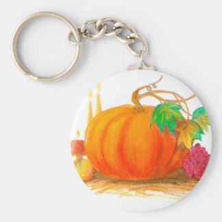 Pumpkin harvest key ring