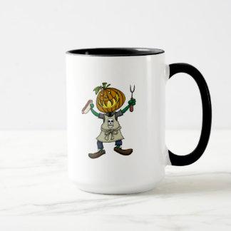 Pumpkin Head Grilling Mug