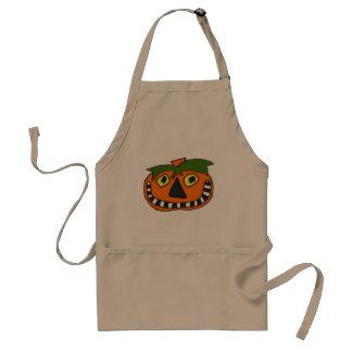Pumpkin Head Trick or Treat Adult Apron