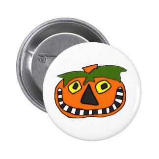Pumpkin Head Trick or Treat Buttons