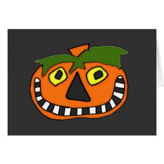 Pumpkin Head Trick or Treat Greeting Card
