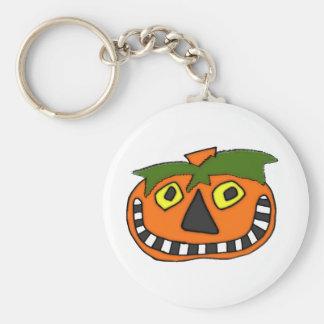 Pumpkin Head Trick or Treat Key Chain