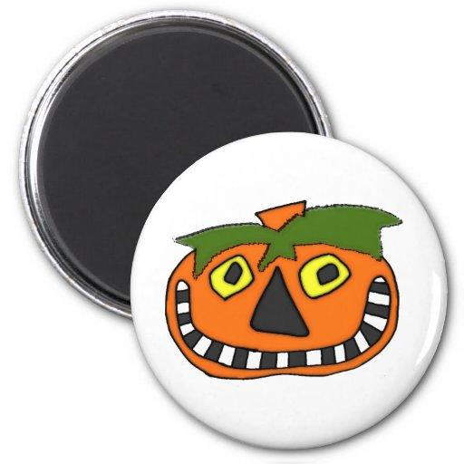 Pumpkin Head Trick or Treat Fridge Magnets