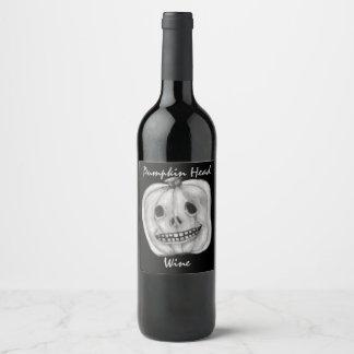Pumpkin Head Wine | Halloween Wine Label