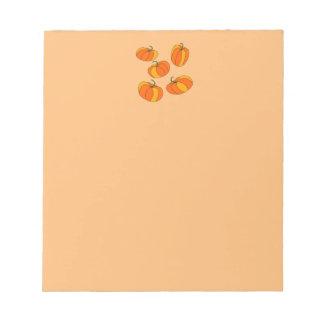 Pumpkin Header Design on Orange Note Pad!