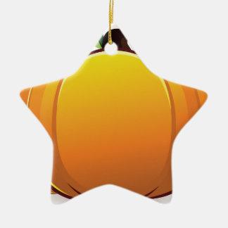 Pumpkin illustration ceramic star decoration