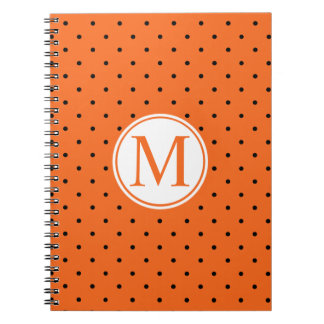 Pumpkin Inspired Halloween Monogram | Guestbook Notebook