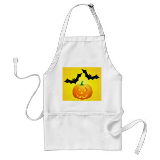 Pumpkin Jack and Bat Yellow Standard Apron