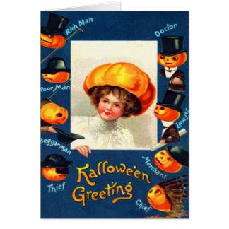 Pumpkin Jack O Lantern Costume Greeting Card
