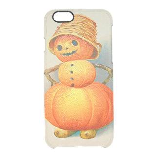 Pumpkin Jack O' Lantern Snowman Clear iPhone 6/6S Case