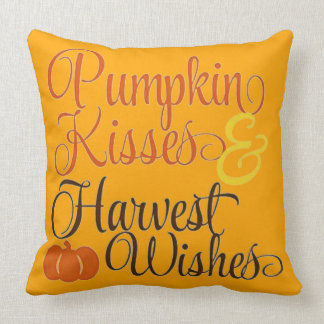 Pumpkin Kisses And Harvest Wishes Cushion