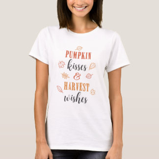 Pumpkin Kisses & Harvest Wishes Thanksgiving T-Shirt