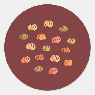 Pumpkin Large Glossy Round Sticker