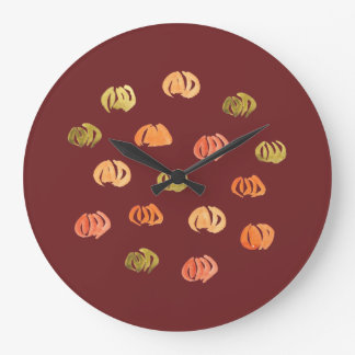 Pumpkin Large Round Wall Clock